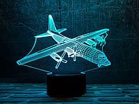 """3D светильник ночник """"Самолет 4"""" 3DTOYSLAMP, фото 1"""