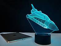 "3D светильник ночник ""Шатл"" 3DTOYSLAMP, фото 1"