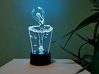"3D ночник ""Балерина"" 3DTOYSLAMP, фото 1"