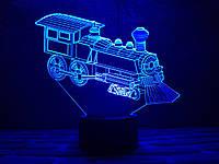 "Сменная пластина для 3D ламп ""Паровозик"" 3DTOYSLAMP, фото 1"