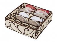 Коробочка для белья на 7 секций Молочный Шоколад 103-1022510