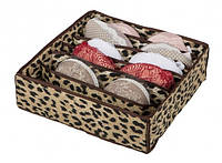 Коробочка для белья на 7 секций леопард 103-10215296