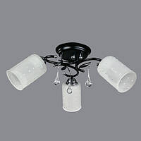 Люстра потолочная на 3 лампочки P3 - 37391/3C (BK+CR+WT)