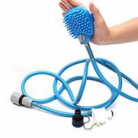Перчатка для мойки животных SUNROZ Pet Bathing Tool щетка-душ для собак Синий (1503), фото 1