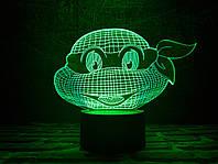 "Сменная пластина для 3D ночника ""Черепашка ниндзя 1"" 3DTOYSLAMP, фото 1"