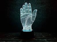 """Сменная пластина для 3D светильников """"Дай пять!"""" 3DTOYSLAMP, фото 1"""