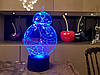 """Сменная пластина """"BB 8"""" для 3D светильников 3DTOYSLAMP"""