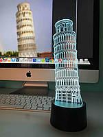 """Сменная пластина для 3D светильников """"Пизанская башня"""" 3DTOYSLAMP, фото 1"""
