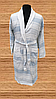 Халат мужской длинный хлопок Л/Х, (TM Gursan), светло-голубой Турция