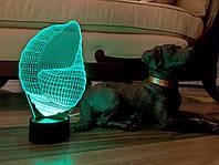 """Детский ночник - светильник """"Ракушка"""" 3DTOYSLAMP, фото 1"""