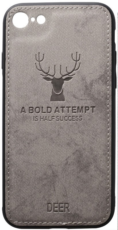 Чехол-накладка TOTO Deer Shell With Leather Effect Case Apple iPhone 7/8/SE 2020 Grey #I/S