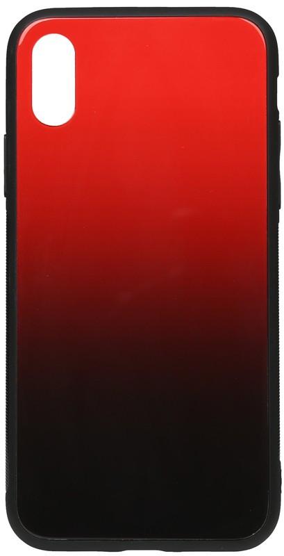 Чехол-накладка TOTO Gradient Glass Case Apple iPhone XS Max Red #I/S