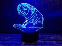 """Детский ночник - светильник """"Ленивец"""" 3DTOYSLAMP, фото 1"""