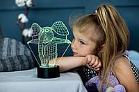 """Детский ночник - светильник """" Слоник"""" 3DTOYSLAMP, фото 1"""