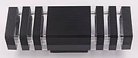 Светильник настенный/потолочный 8024/2-bk-s Черный 34х11х10 см., фото 1