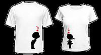 """Парные футболки """"Мальчик и девочка"""""""