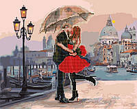 """Картина по номерам и алмазная мозаика 2 в 1. Rainbow Art """"Поцелуй на прощание"""" GZS1005-RA"""