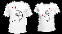 """Парные футболки """"Амур"""""""