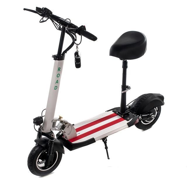 """Электросамокат Road Scooter H06С 10"""" со съёмным сиденьем 500W/ 12Ah, до 45 км.ч/до 40км"""