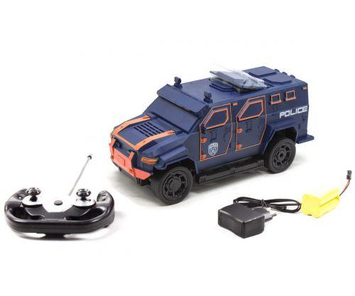Внедорожник  на радиоуправлении Полиция сине-оранжевый 666-710A