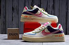 Кроссовки женские 20031, Nike Air Force 1, бежевые, [ 36 37 38 ] р. 36-22,5см.