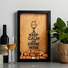 """Рамка для винных пробок """"Keep calm"""""""