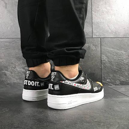 Модные мужские кроссовки черные с белым с 41 по 46 размер, фото 2