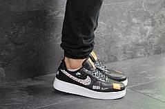 Модные мужские кроссовки черные с белым с 41 по 46 размер, фото 3