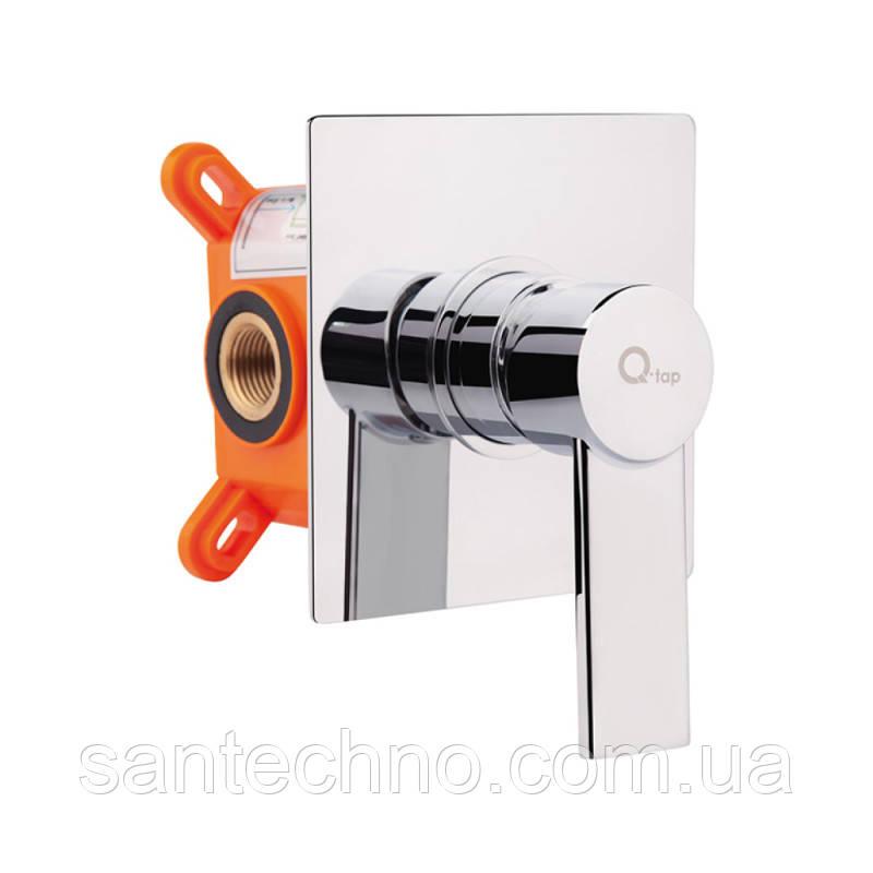 Смеситель скрытого монтажа для биде Q-tap Form CRM 001AB SQ