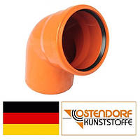 Колено ПВХ 110х67 наружной канализации Ostendorf Германия