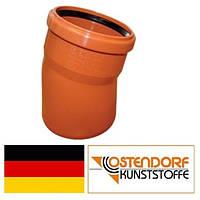 Колено ПВХ 125х15 наружной канализации Ostendorf Германия