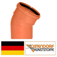 Колено ПВХ 125х30 наружной канализации Ostendorf Германия