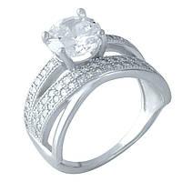 Серебряное кольцо DreamJewelry с фианитами (1955796) 18 размер