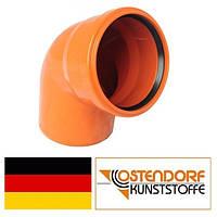 Колено ПВХ 125х67 наружной канализации Ostendorf Германия