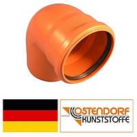 Колено ПВХ 125х87 наружной канализации Ostendorf Германия