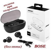 Вакуумні бездротові Bluetooth-навушники BOSE TWS 2 із зарядним кейсом, боксом, фото 1
