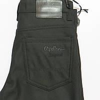 Подростковые утеплённые брюки/джинсы на флисе для мальчика 152р