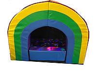 Мягкий модульный комплект Сенсорная пещера с 2 лавочками, светодиодной подсветкой и шариками 220х170х120 см