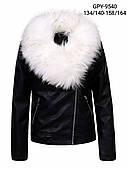 Куртка кожзам на хутрі для дівчаток Glo-Story оптом, 134-164 рр. Артикул: GPY9540