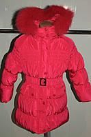 Зимнее пальто на девочку 104-122 рост (холлофайбер), фото 1