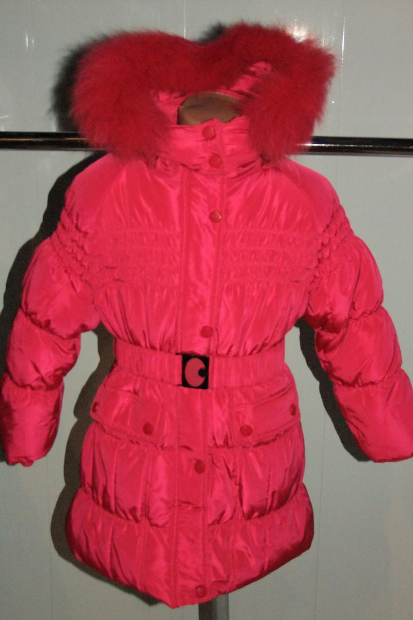 Зимнее пальто на девочку 104-122 рост (холлофайбер)