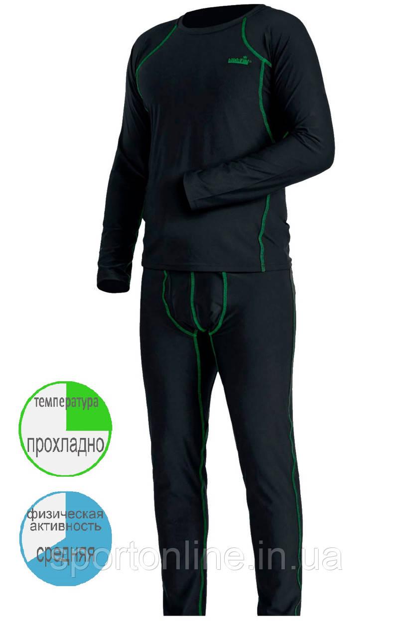 Комплект мужского универсального термобелья Norfin Thermo Line 2, чёрный, для прохладной погоды S