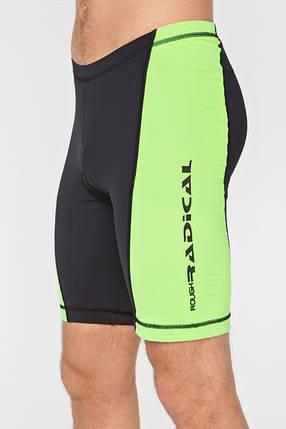 Мужские велошорты Radical Racer Pro M Черно-зеленые (r0690), фото 2