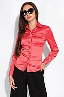 Рубашка женская приталенного покроя 118P006 (Коралловый), фото 1