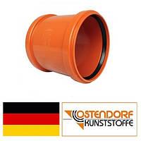 Муфта ПВХ 110 мм надвижная наружной канализации Ostendorf Германия