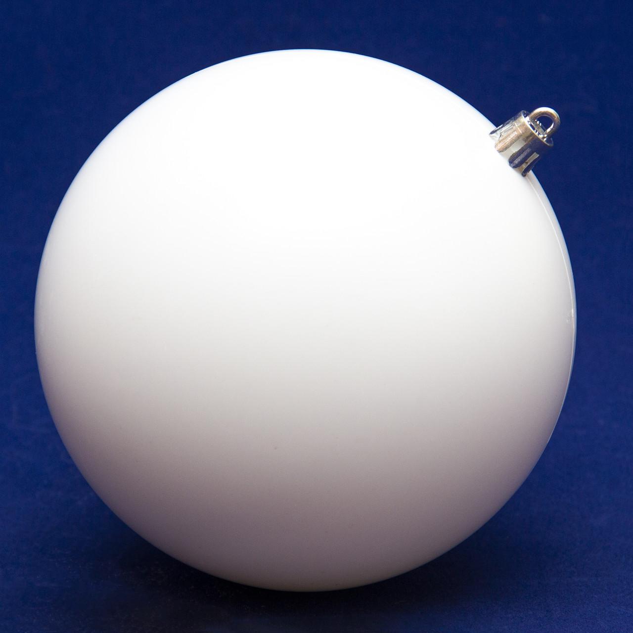 Елочный шар пластиковый матовый d-12см, белый (891336)