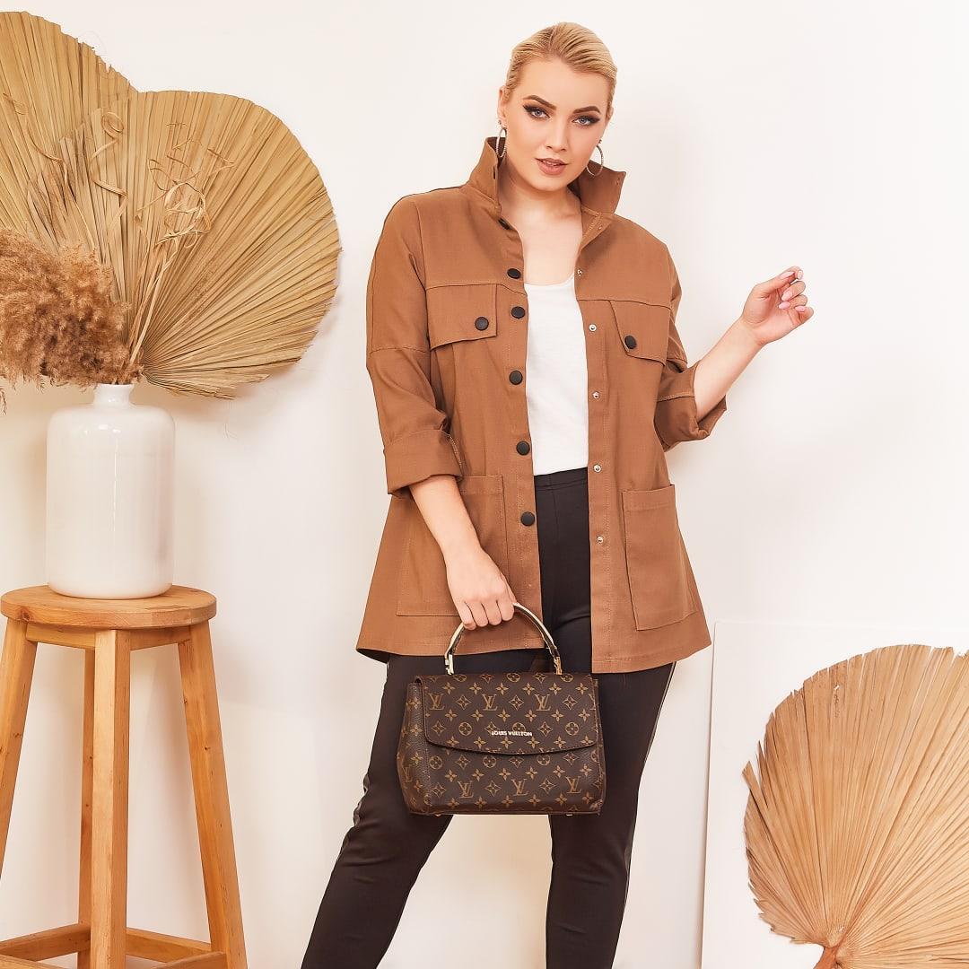 """Джинсовая женская куртка-ветровка """"BEAUTY"""" на кнопках (большие размеры)"""