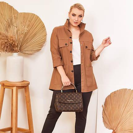 """Джинсовая женская куртка-ветровка """"BEAUTY"""" на кнопках (большие размеры), фото 2"""
