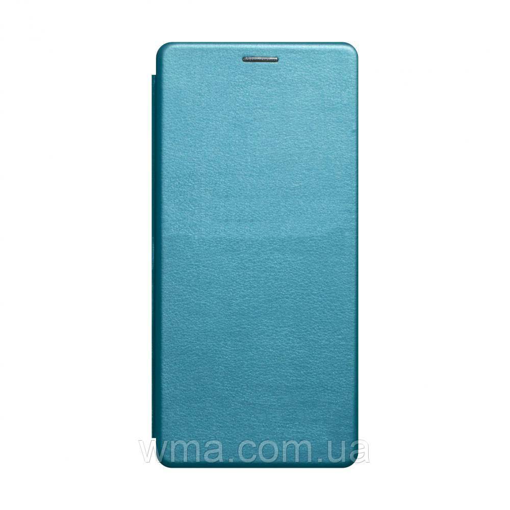 Чехол-книжка кожа Samsung A11 / M11 Цвет Голубой