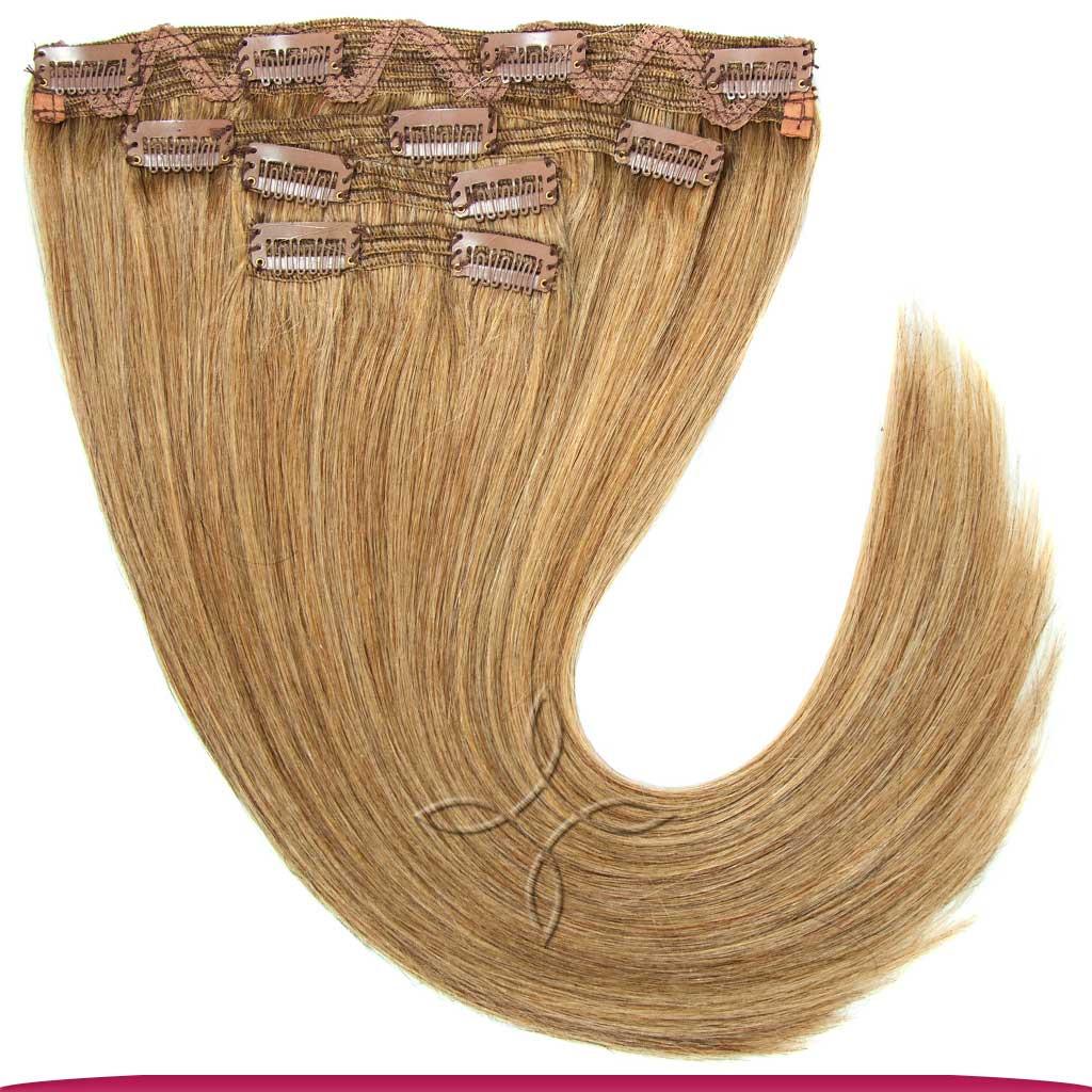 Натуральные Европейские Волосы на Заколках 40 см 120 грамм, Мелированные №12/16/613